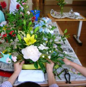 生け花 作業風景
