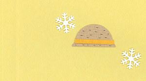 冬の麦わら帽子
