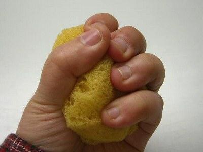 手指自主トレ用スポンジ